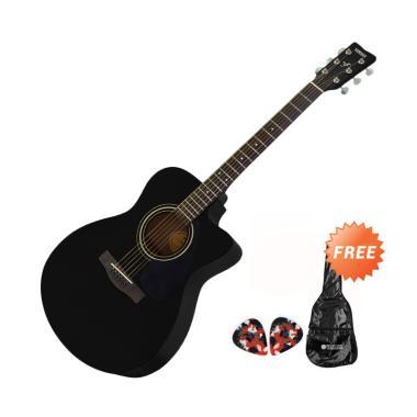 Yamaha FS 100 C Gitar Akustik - Hitam + Free Softcase dan 2 Pick