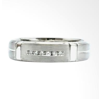 Pentacles FC01796 Wedding Ring White Gold With Diamond