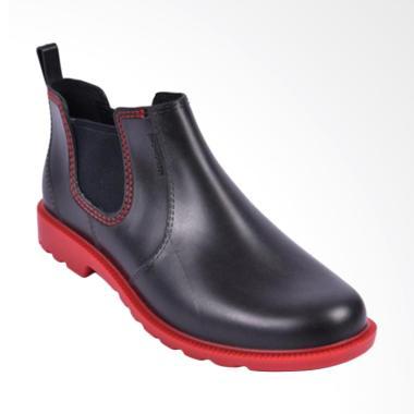 AP Boots Work & Hobby Sepatu Boots Pria - Black Red