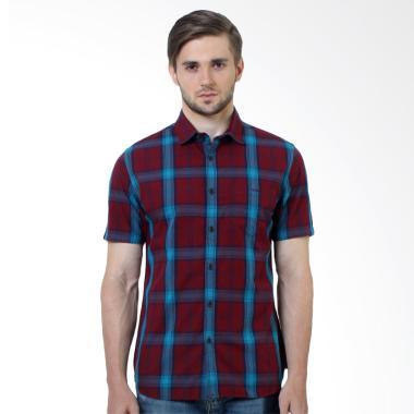 Manzone Amarillo Slim fit Shirt Atasan Pria - Red
