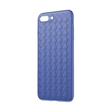 Baseus BV Weaving Back Cover Casing ... s or iPhone 8 Plus - Blue