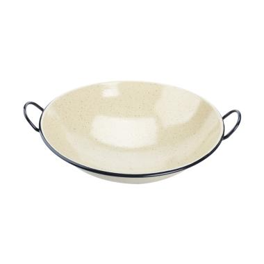 My Choice Enamel Wok - Yellow Marble [30 cm]