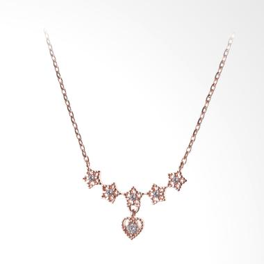 Cocoa Jewelry Line Star Love Necklace - Rose Gold