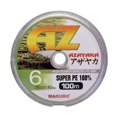 Maguro Azayaka PE Senar Pancing - Yellow [100m/ Size 6/ 80 Lbs]