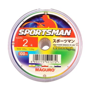 Maguro Sportsman PE Senar Pancing [Size 2/ 30 LBS/ 100 m]