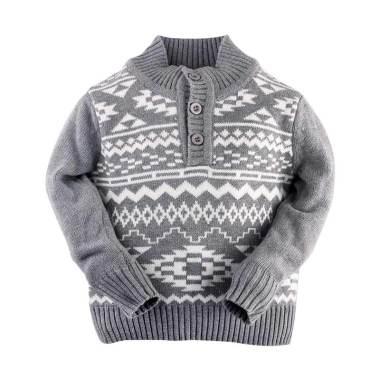 Hello Mici Hakuna Matata Knitwear Baby Baju Bayi - Grey