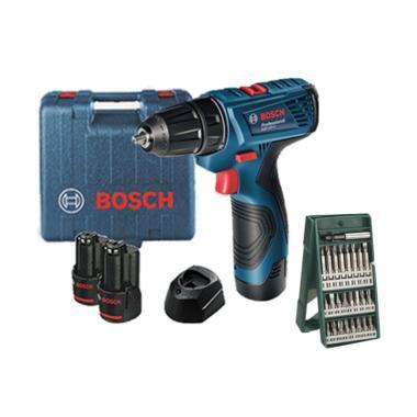 Bosch GSR 120-LI Cordless Drill Mes ... e Set Mata Obeng [25 pcs]