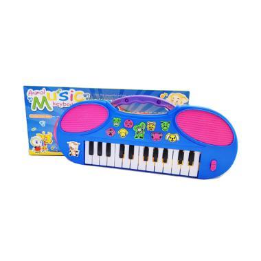 MOMO Piano Animal Keyboard BO Mainan Musical Anak - Biru