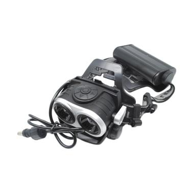 Alonefire HP20 LED Headlamp - Black [8000 Lumens/ 2X CREE XM-L T6]