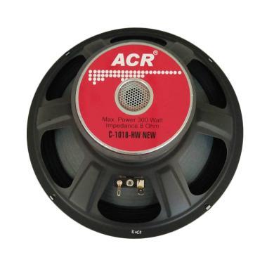 harga ACR ACR1018 Full Range Speaker [10 Inch/ 300 Watt] Black Red Blibli.com