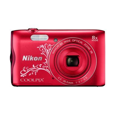 Nikon Coolpix A300 Kamera Pocket - Red Flower