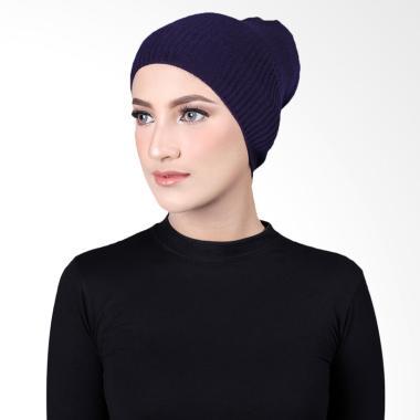 Cantik Kerudung Misha Cape Rajut Inner Hijab - Navy No.2