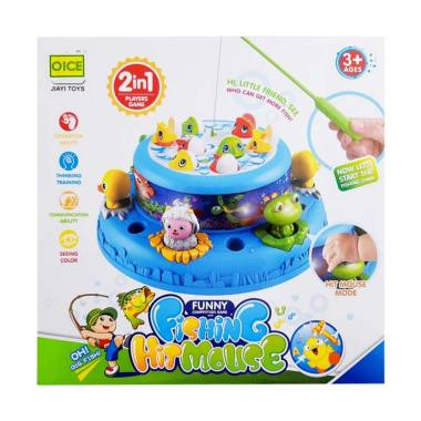 MOMO 2in1 Fishing Game & Hammer Play Set 693 Mainan Anak - Multicolor