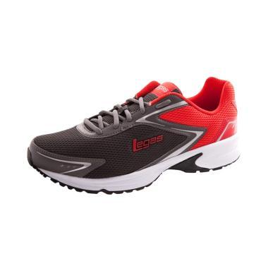 League Legas Series Corona LA M Sepatu Lari Pria - Grey Red