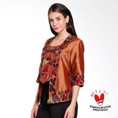 Lombang Batik Bordir Daun Talas Kebaya Wanita