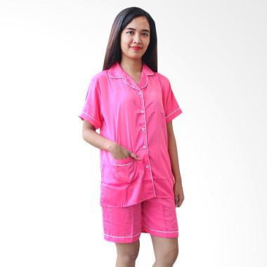 Aily BT013 Setelan Baju Tidur Wanita - Pink