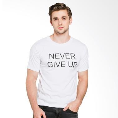 JCLOTHES Kaos Pria Kaos Distro Tumblr Tee Never Give Up - Putih