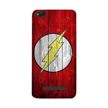 Acc Hp Flash Superhero Logo On Wood ... asing for Xiaomi Redmi 5A