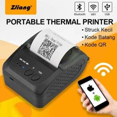 harga Unik MINI PORTABLEZJ-5809 MOBILE RECIEPT POS PRINTER 58MM KERTAS KASIR - PRINTER Limited Blibli.com