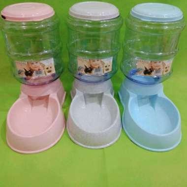harga Tempat makan anjing kucing pet food dispenser 3.5L Multicolor Blibli.com