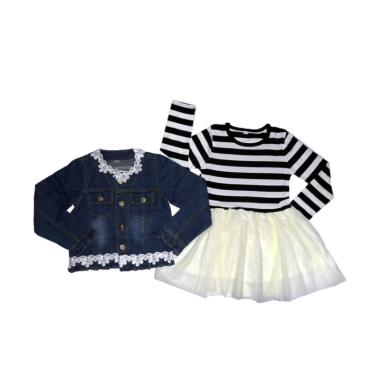 VERINA BABY Dress Tutu Plus Cardiga ... Pakaian Anak - Blue Jeans