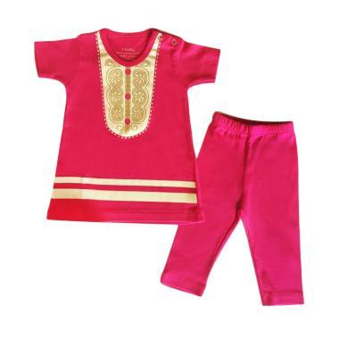 J Baby 320 Setelan  Baju Muslim Anak - Pink Fanta Gold [3-18 Month]