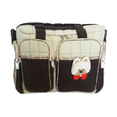 MOMO Kiddy 5085 Boneka Diaper Bag Tas Perlengkapan Bayi - Coklat
