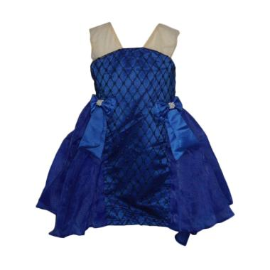 VERINA BABY Elegant Variasi Pita Dress Pesta Anak - Biru