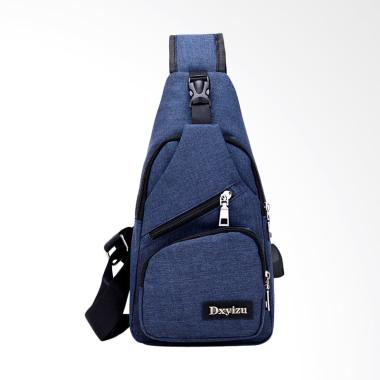 Lansdeal Usb Outdoor Sports Canvas  ... rossbody Sling Bag - Blue