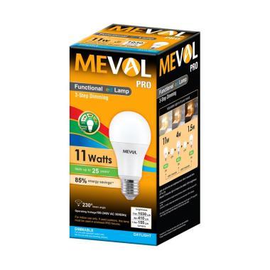 Meval 3-Step Dimming PRO LED Bulb Bohlam Lampu [11 watt]