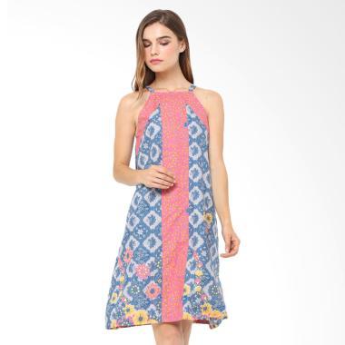 Anakara Halter Quinas Dress Batik