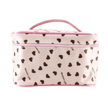 Paroparoshop Make Up Polka Heart Pouch - Pink