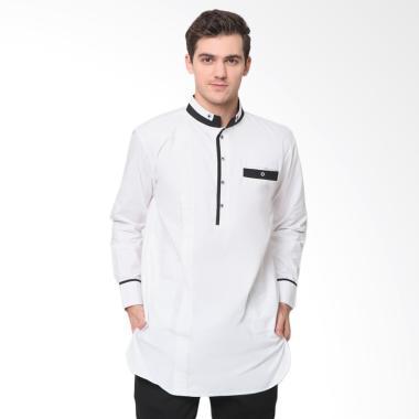 Zayidan Ghaisan Baju Muslim Gamis Pria - Putih