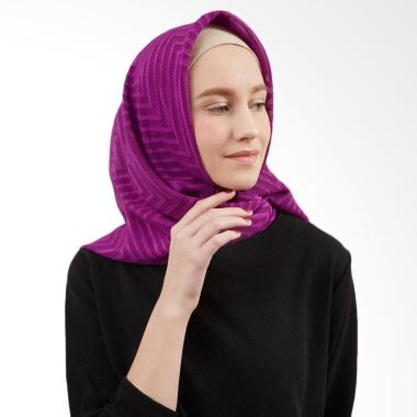 LAMAK QIA Rubiah Square Purple Jilbab Segiempat