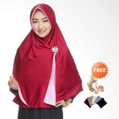 Zannah Hijab Syari Bolak Balik Jumbo Jilbab Instan - Pink Fanta