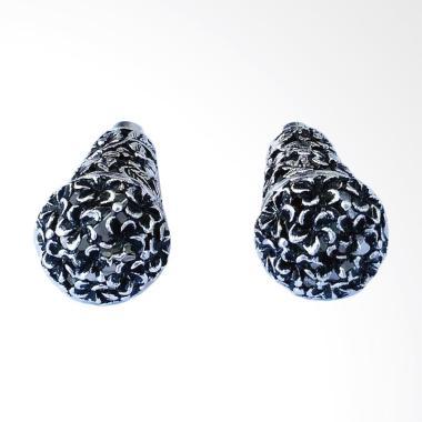 Budiana Silver Subeng Perak Bali Motif Ukiran Bunga Jepun Anting