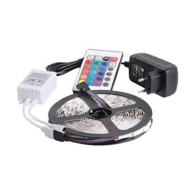 JMS 300 SMD 2835 DRL LED Strip Lamp Include adapter & Remote RGB [5 M]