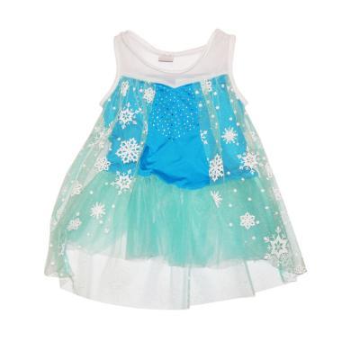Wonderland Frozen Tutu Dress Anak - Biru