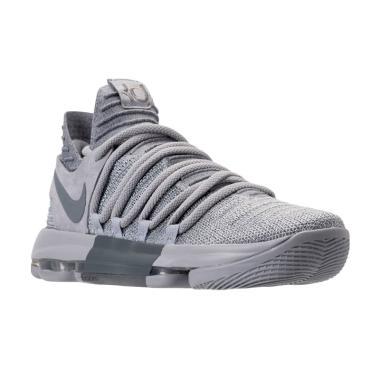 NIKE Zoom KD10 Sepatu Basket Pria - Grey