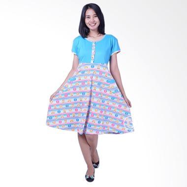 Mama Hamil DS 454 Kaos Bear Dress Hamil - Biru