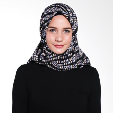 Artenesia SS17SCF19 Dots Scarf Jilbab Segiempat - Black