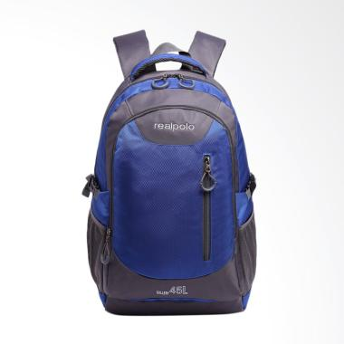 Real Polo Backpack Kasual Jumbo Tas ... Biru Muda [6333/ Size XL]
