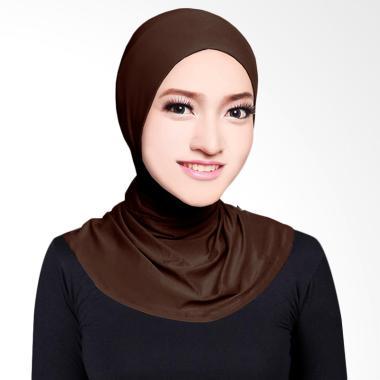 Cotton Bee Antem Sleting Hijab - Dark Brown