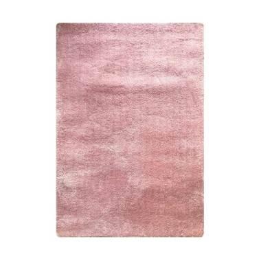 Vision Soft Shaggy Polos Karpet - Pink Pastel [110 x 160 cm]