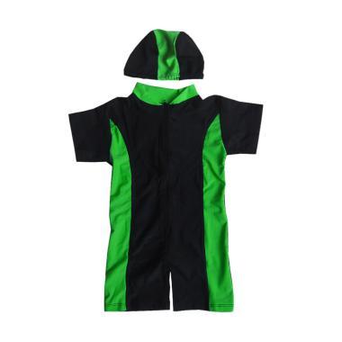Rainy Collections Baju Renang Bayi Unisex dengan Topi - Lis Green