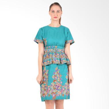 koesoema-clothing_koesoema-clothing-tatiana-peplum-dress-batik-wanita-with-obi---tosca_full05 Ulasan Harga Baju Batik Wanita Yang Bagus Terbaru tahun ini