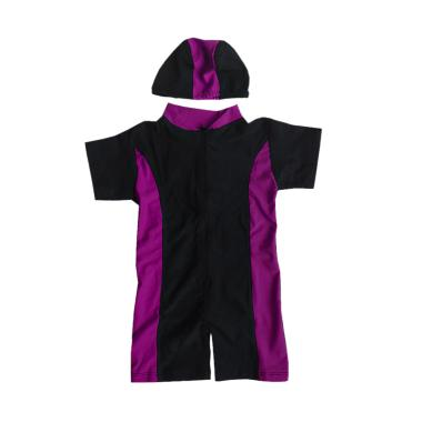 Rainy Collections Baju Renang Bayi Unisex with Topi - Ungu Muda