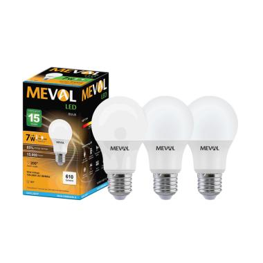 Meval Bulb Cool Daylight Lampu LED - Putih [7W/ 3 pcs]