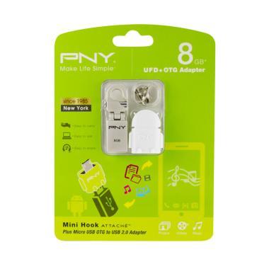 PNY Mini Hook Flashdisk [8 GB/USB 2.0] + OTG Adapter Robot white