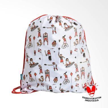 Kamalika Artprints Official Merchandise Blibli Indonesia Open 2018 Drawstring Bag - White [45 x 35